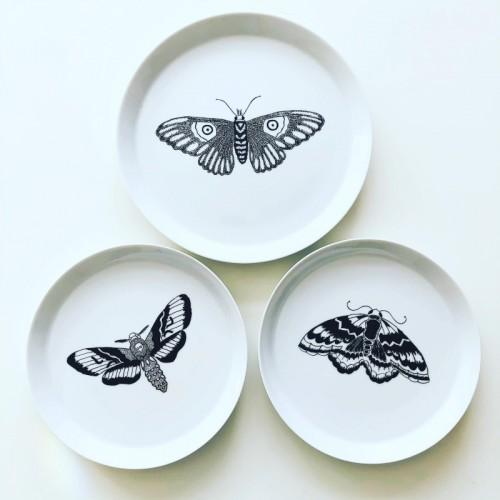 Talerze Seria Motyle ręcznie malowana