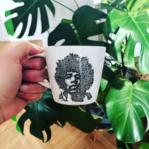 Filiżanka ręcznie malowana Jimi Hendrix