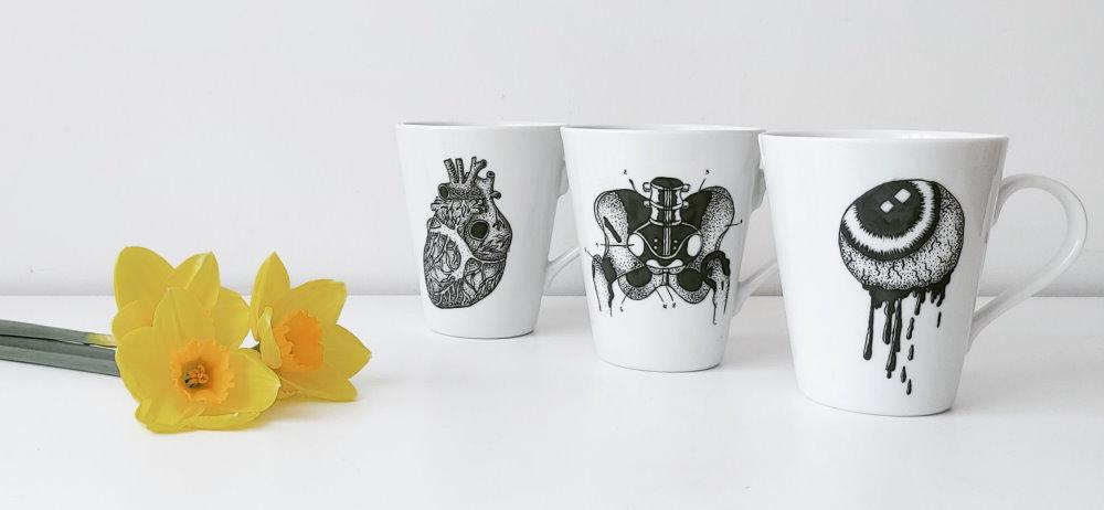 Handbemalte dekorative Teller